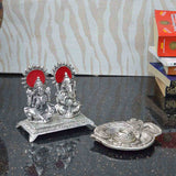 Set of Laxmi & Ganesha Statue and Om Incense Stick Holder - EC-HJRWME3AG77