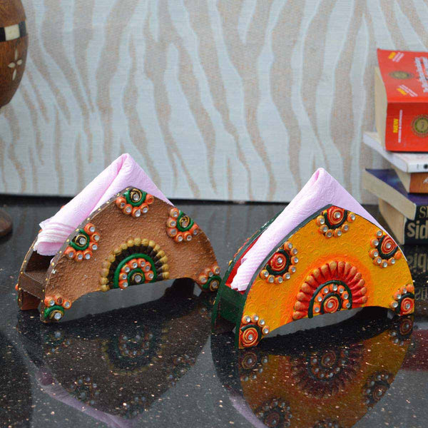 Combo of Papier Mache Colorful Tissue Paper Holder - EC-KKPMB3AG79