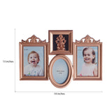 Lord Ganesha Family Collage Brownish Photo Frame for 3 photos - EC-HJRME24MA197