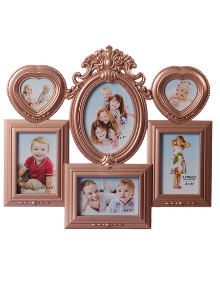 Floral Family Collage Brown Photo Frame for 6 photos - EC-HJRME24MA227