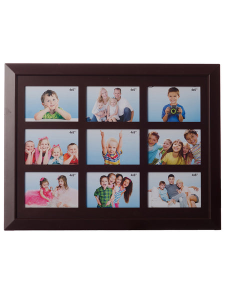Jumbo Family Collage Brown Photo Frame for 9 photos - EC-HJRME24MA204