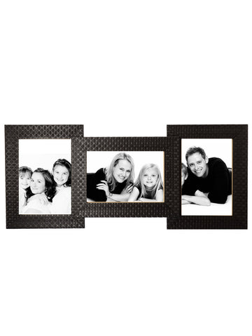 3 Photos Synthetic Wood Collage Frame - EC-HJRME24MA167