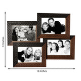 4 Photos Black and Brown Synthetic Wood Collage Frame - EC-HJRME24MA169