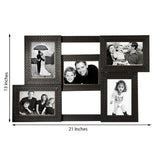 5 Photos Synthetic Wood Collage Frame - EC-HJRME24MA170