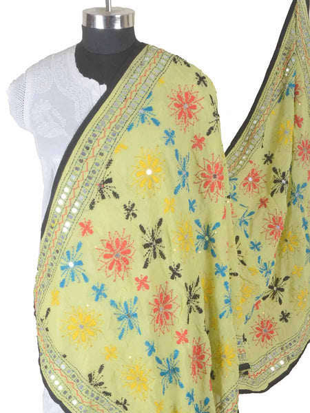 Phulkari Dupatta In Yellow - CPPDC28AP32