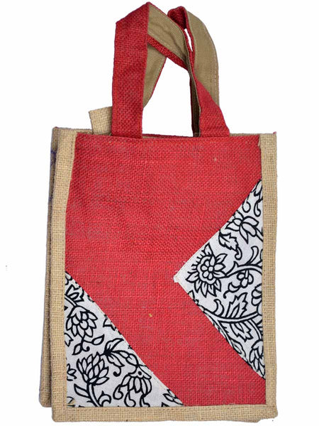 Ethnic Jute Bag From Assam In Red- CRUB11JL6