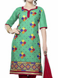 Cotton Suit From Kolkata In Green - FPKWA9AG25