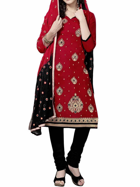 Cotton Suit From Kolkata In Red - FPKWA9AG27
