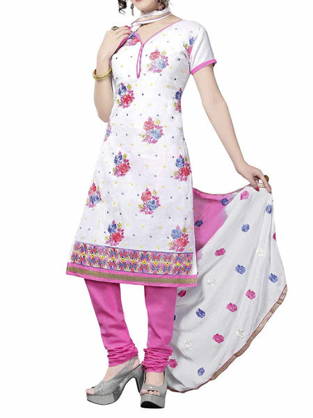 Cotton Suit From Kolkata In White - FPKWA9AG32