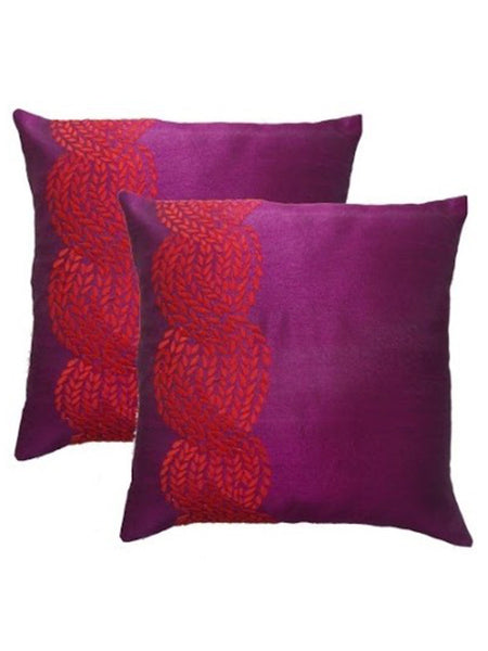 Pack Of 2 Checkered Cushions Cover In Red - DKCC25AP15