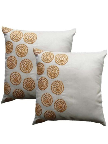 Pack Of 2 Abstract Cushions Cover In White - DKCC25AP11