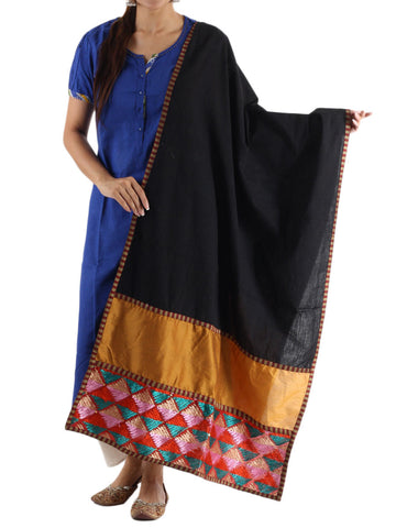 Dupatta In Black - PCPPD16OT31