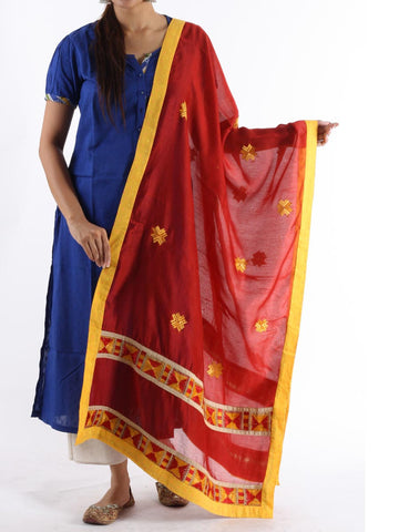 Dupatta In Red - PCPPD16OT33