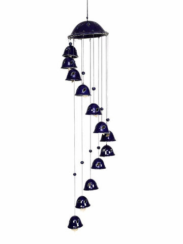 Ceramic Blue Bell Wind Chime - UR-IHDDA7JN144