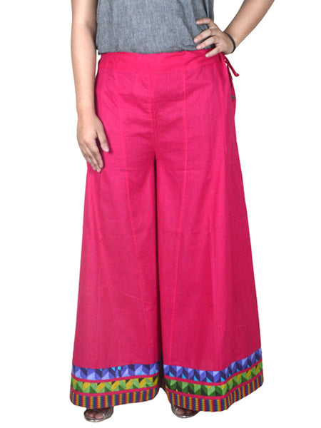 Cotton Divided Skirt From Jaipur In Dark Pink - DRKPS18FB23
