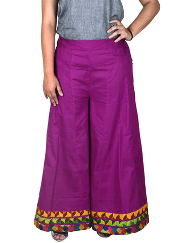 Cotton Divided Skirt From Jaipur In Fandango Pink - DRKPS6JU10