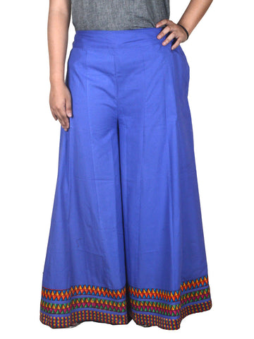Cotton Divided Skirt From Jaipur In Purple - DRKPS6JU5