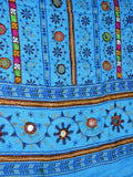Light Blue Kutch embroidery Dupatta(Hand Work) - ND-CPKD30AG3