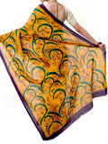 Batik Saree From West Bengal In Yellow & White - PWBSAI21MY1