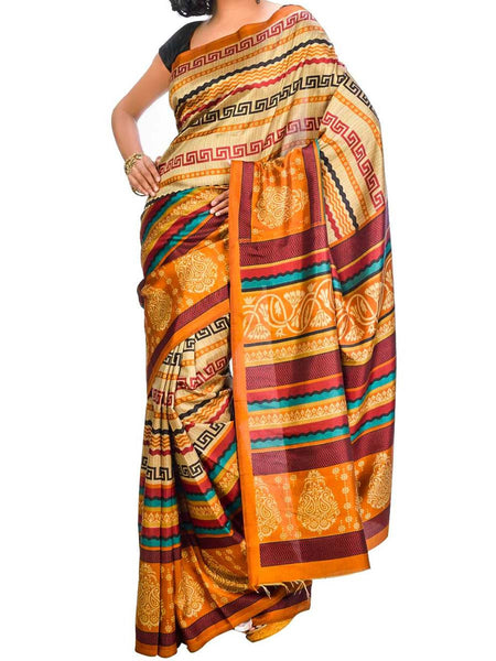 Saree From West Bengal In Multicolor - PWBSAI26AG14