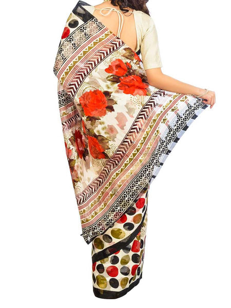 Saree From West Bengal In Multicolor - PWBSAI26AG19
