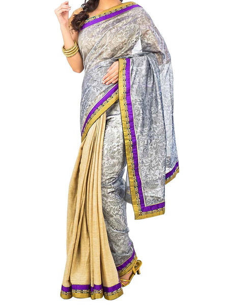 Saree From West Bengal In Off White - PWBSAI29AG63