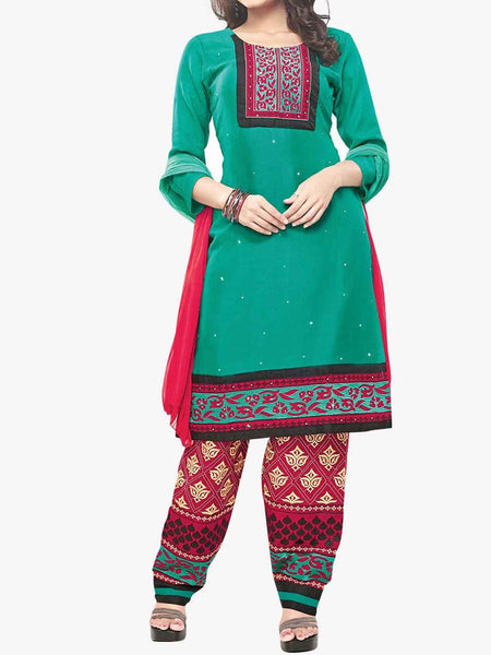 Cotton Suit From Kolkata In Green - FPKWA9AG39