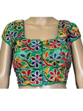 Green Kutch Embroidery Blouse - ND-PKGBN3JN14