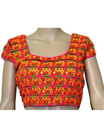 Multi Colour kutch Embroidery Blouse - ND-PKGBN20SP6