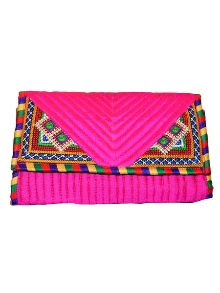Pink Kutch Embroidered Clutch - ND-CJRBSN24MA2