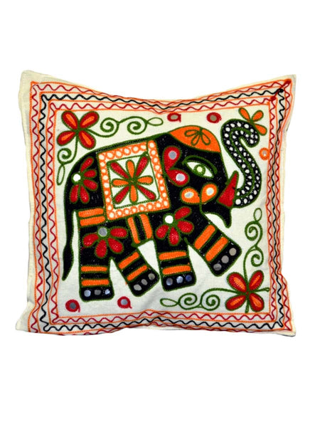 Set of 5 Aari Embroidered Cushion Cover In MultiColour - ND-GCC24MA3