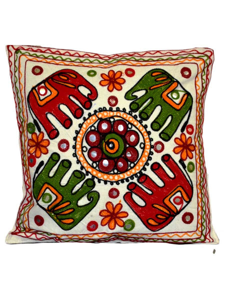 Set of 5 Aari Embroidered Cushion Cover In MultiColour - ND-GCC24MA4