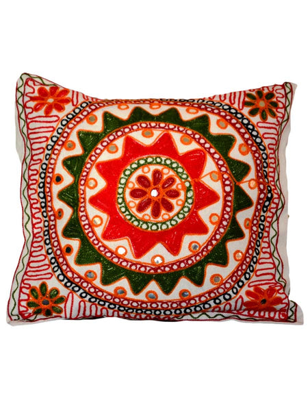Set of 5 Aari Embroidered Cushion Cover In MultiColour - ND-GCC24MA7