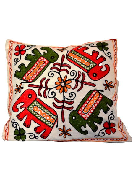 Set of 3 Aari Embroidered Cushion Cover In MultiColour - ND-GCC24MA8