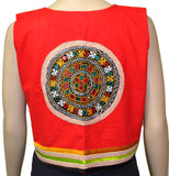 Red Kutch Embroidered Waistcoat - ND-PKGJ26MH10