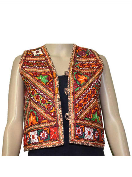 MultiColour Kutch Embroidered Waistcoat - ND-PKGJ24SP2