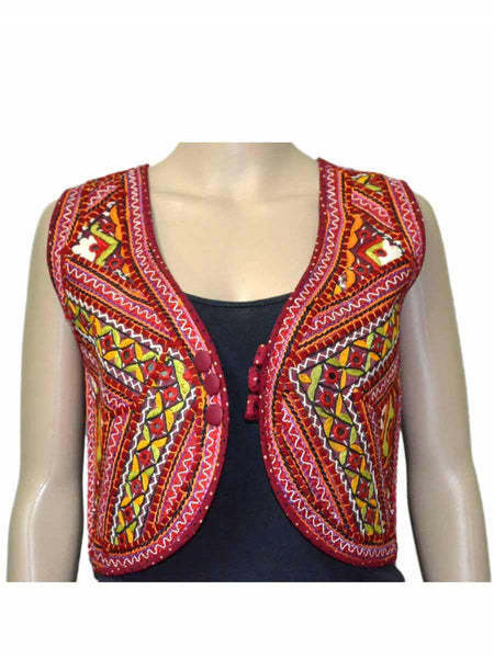MultiColour Kutch Embroidered Waistcoat - ND-PKGJ24SP6