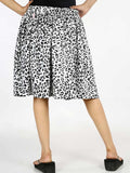 Rayon Printed Short Skirt In Black & White - AE-PSS20JL1