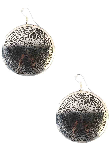 Earrings From Moradabad In Silver-CHUJE12MY25