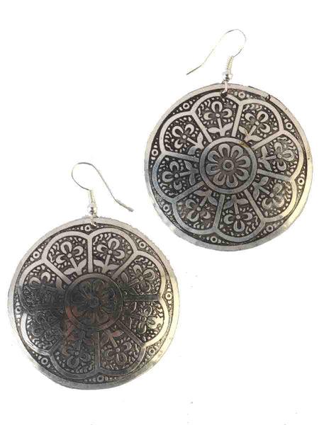 Earrings From Moradabad In Silver-CHUJE12MY26