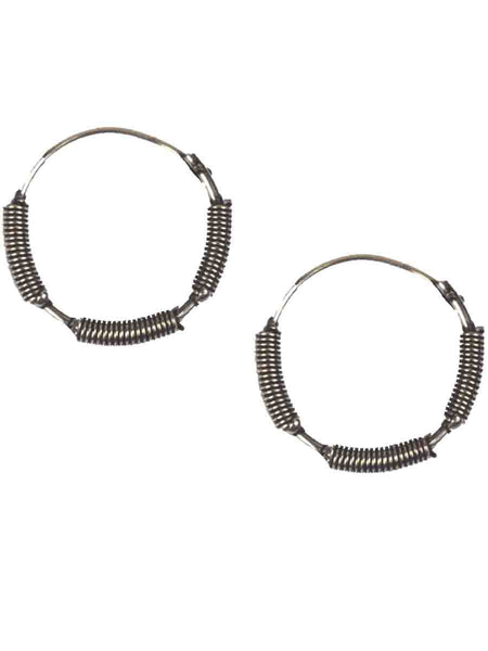 Earrings From Moradabad In Silver-CHUJE31O25