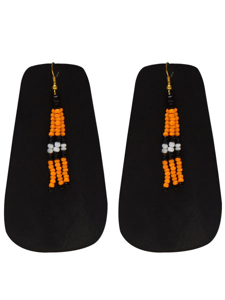 Orange & White Nagaland Earrings - NCHUJE17SP2