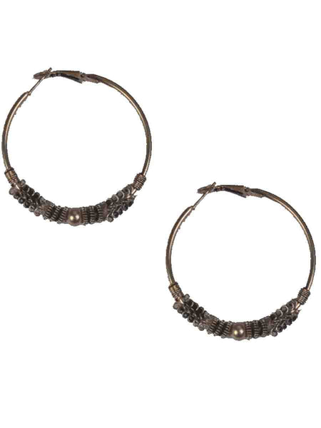 Earrings From Moradabad In Silver-CHUJE31O31