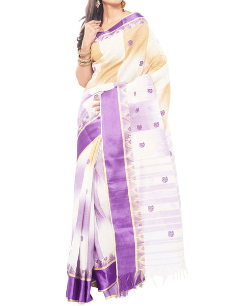 Kolkata Best Collection Handmade Saree And Unstitched  Blouse Piece  - PWBSAI26JN47