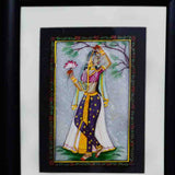Marble Painting Of Ragini With Lotus-HJRME5MY36