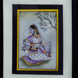 Marble Painting Of Ragini With Swan-EC-HJRME5MY37