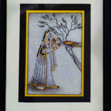 Marble Painting Of Ragini With Peacock-EC-HJRME5MY42