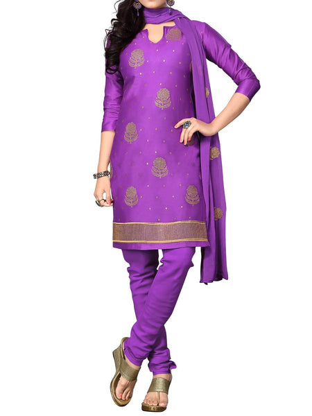 Cotton Suit From Kolkata In Purple - FPKWA9AG49