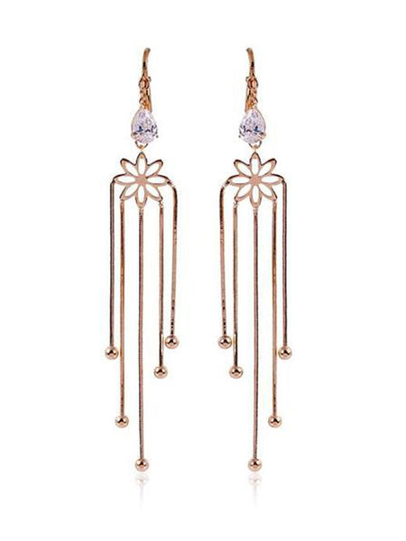 Fountain Zircon Earrings Clear - PH-CJE27AG8