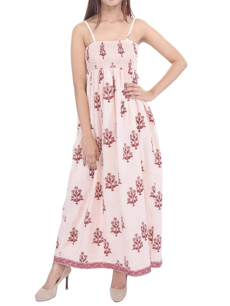 Cotton Cambric Easy breezy Maxi Dress In Multicolour - GP-AJRD19SP11
